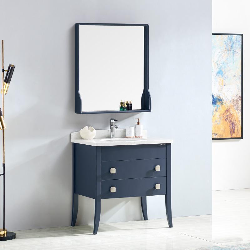 厂家卫尚现代风实木浴室柜8028落地全烤漆系列