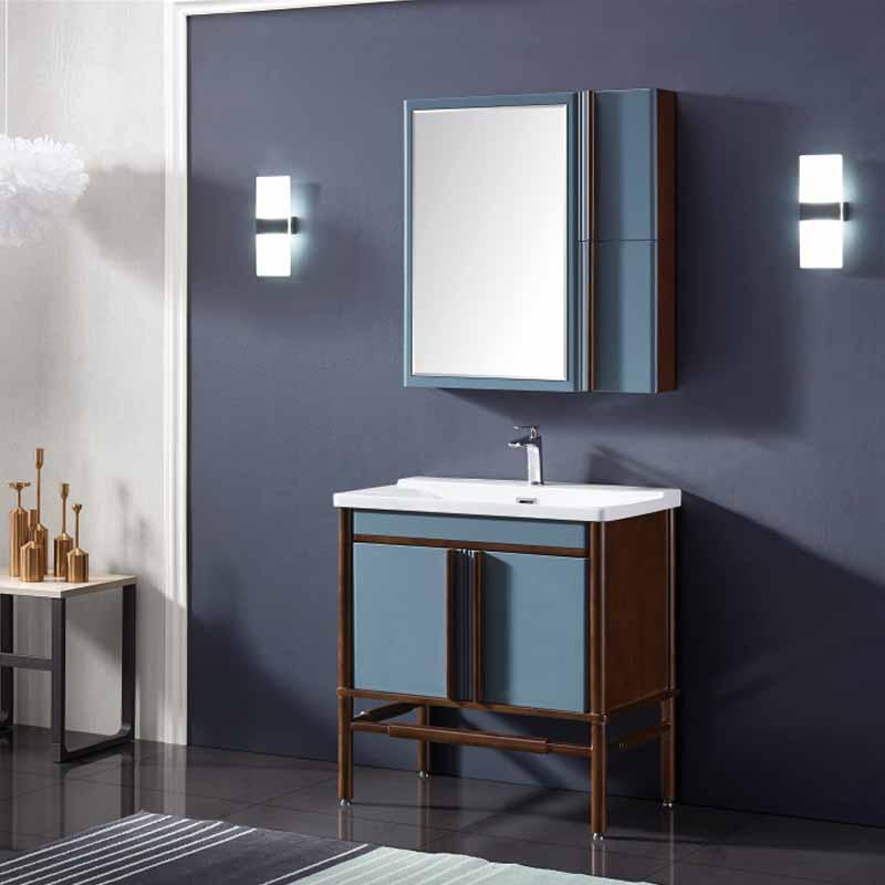 厂家念龙现代实木浴室柜全烤漆6007/6008系列