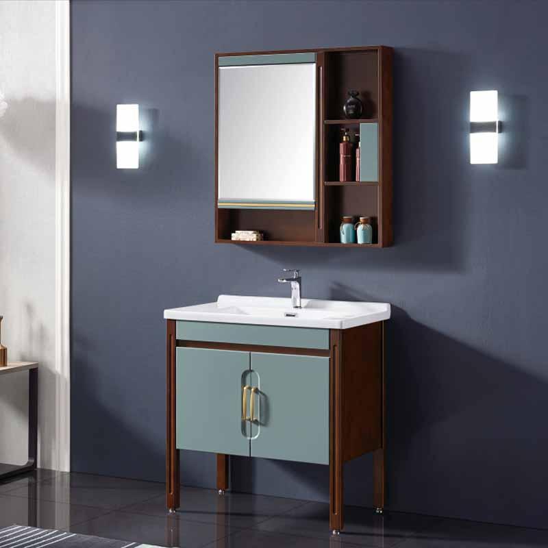 厂家念龙现代实木浴室柜全烤漆6009/6010系列