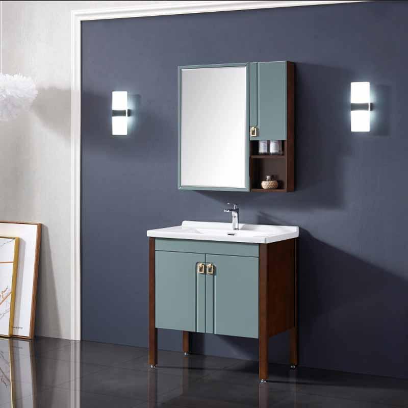 厂家念龙现代实木浴室柜全烤漆6011/6012系列