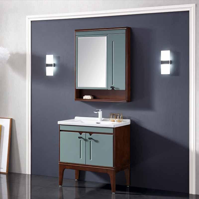厂家念龙现代实木浴室柜全烤漆6013/6014系列