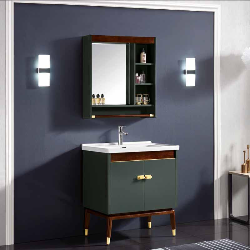 厂家念龙现代实木浴室柜全烤漆6015/6016系列