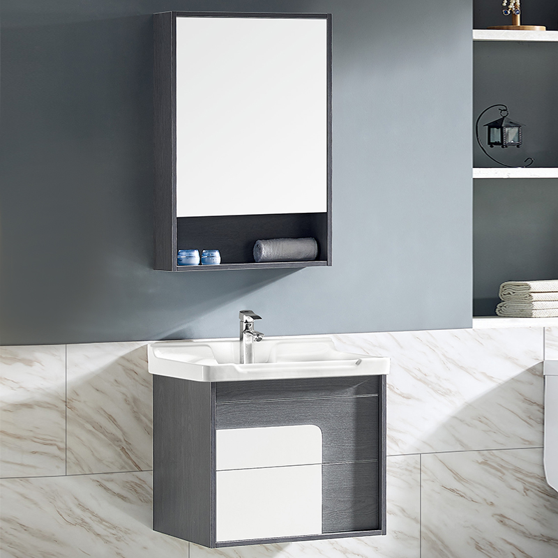 厂家沃尔泊现代免漆浴室柜门板烤漆2084/5/6/7吊柜系列