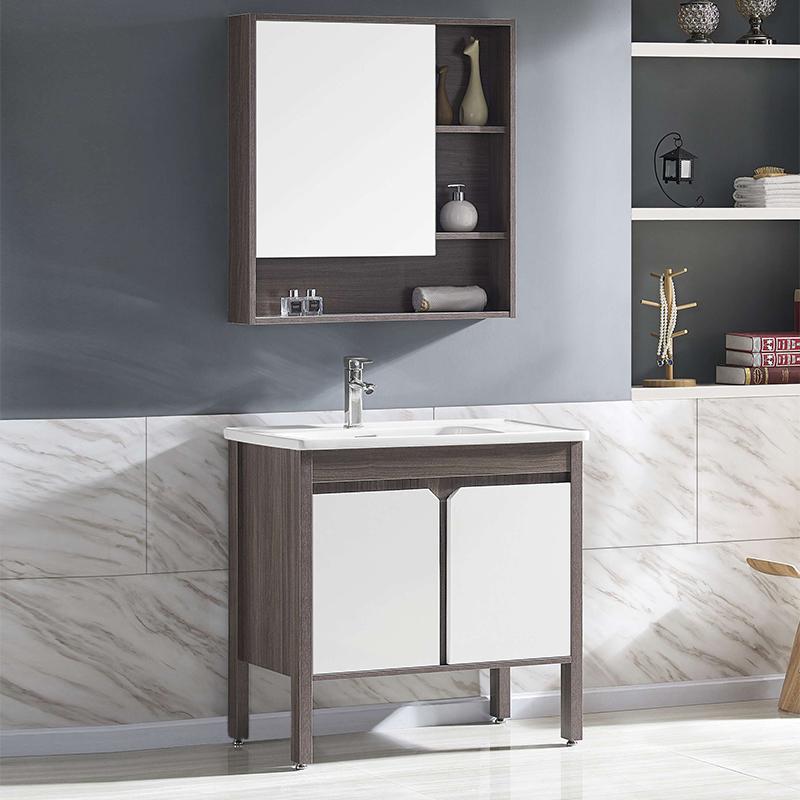 厂家沃尔泊现代免漆浴室柜门板烤漆2091/92/93落地柜系列