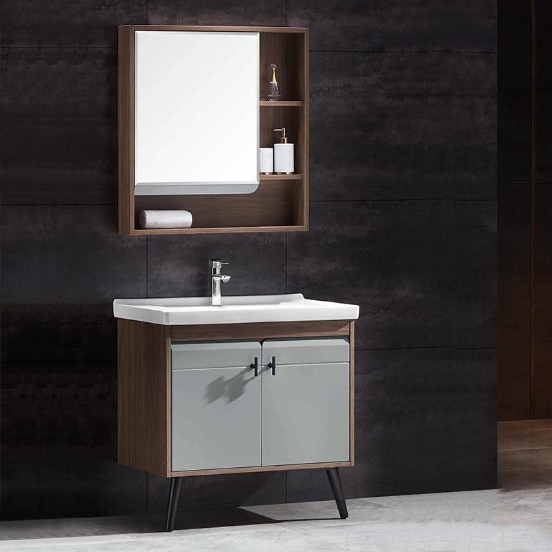 厂家优品居现代免漆浴室柜门板烤漆002落地系列