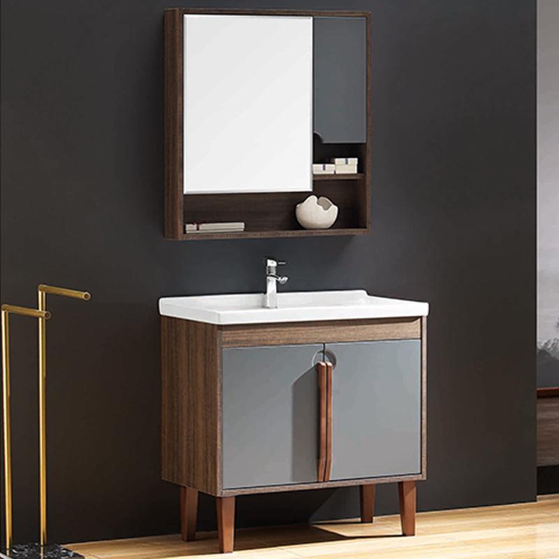 厂家优品居现代免漆浴室柜门板烤漆004落地系列