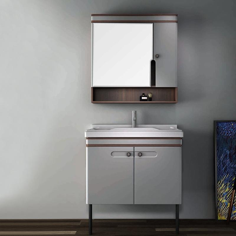 厂家优品居现代免漆浴室柜门板烤漆016落地系列