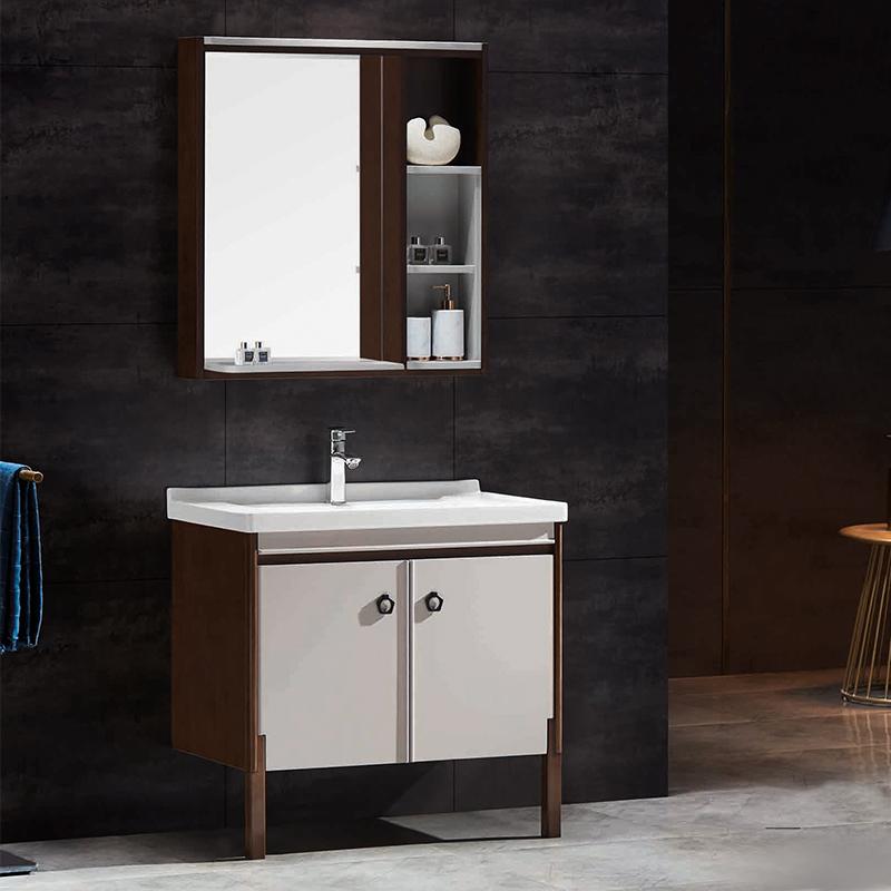厂家优品居现代实木浴室柜006落地系列图片