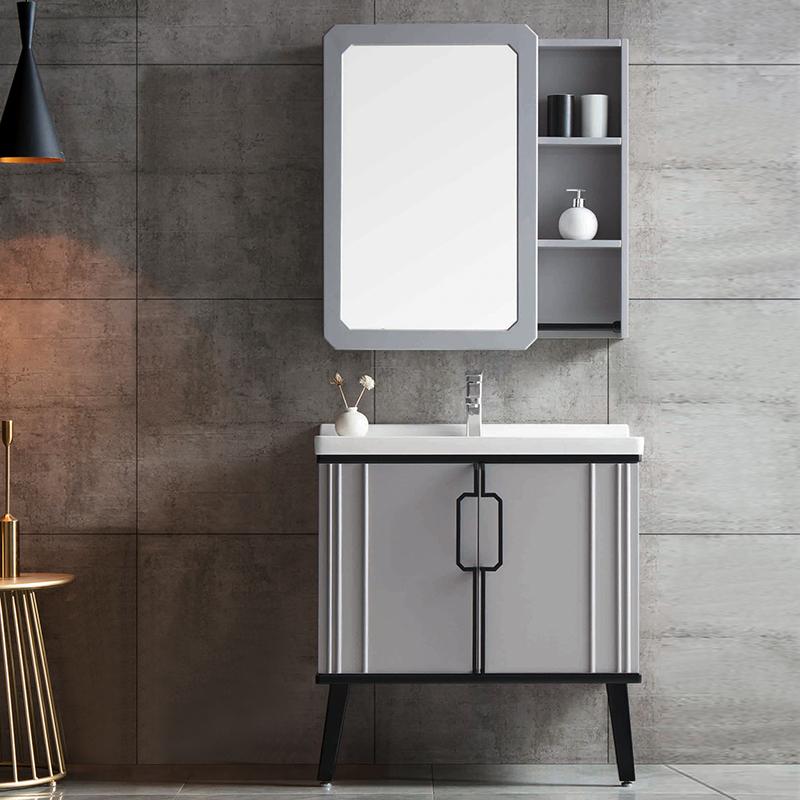 厂家优品居现代实木浴室柜060落地系列图片
