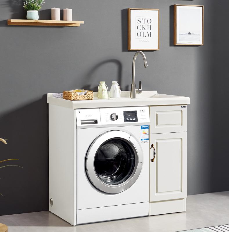 厂家喜依邦实木洗衣柜BM-X-1000不带镜柜