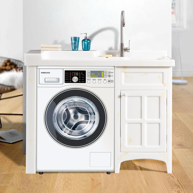 厂家喜依邦玉石洗衣柜黄龙玉BY-X-1200无镜柜