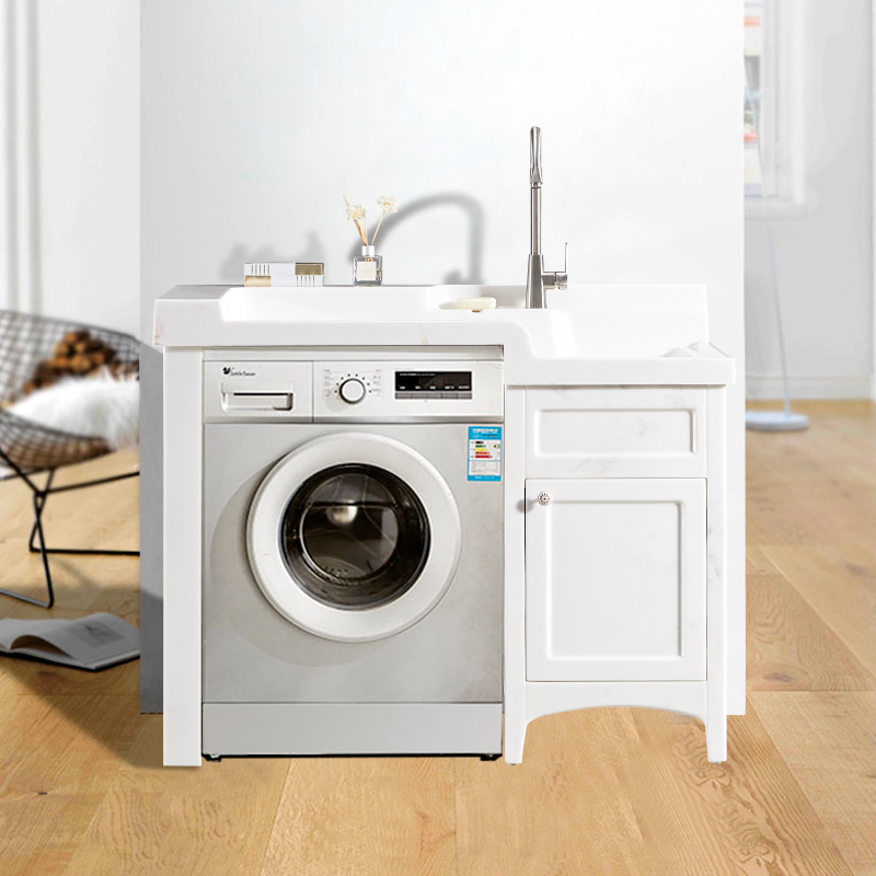 厂家喜依邦玉石洗衣柜墨玉左高右低-BY-X-1200无镜柜