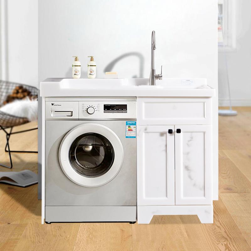 厂家喜依邦玉石洗衣柜墨玉BY-X-1200无镜柜