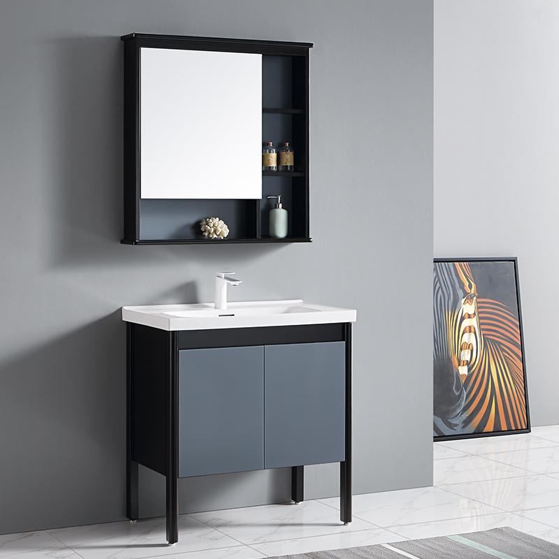 厂家富洛迪现代实木浴室柜橡木落地3007系列
