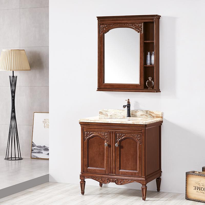 厂家华兰克橡木美式简欧实木浴室柜/洗漱台/洗手盆8025/26
