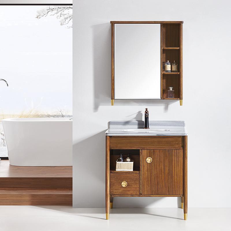 厂家华兰克卫生间现代实木浴室柜/洗漱台/洗手盆8037/67图片