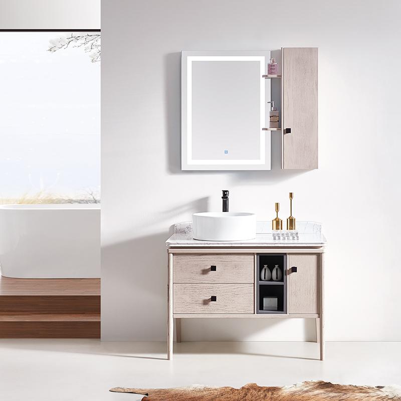 厂家华润恩卫生间红橡现代实木浴室柜/洗漱台/洗手盆8059