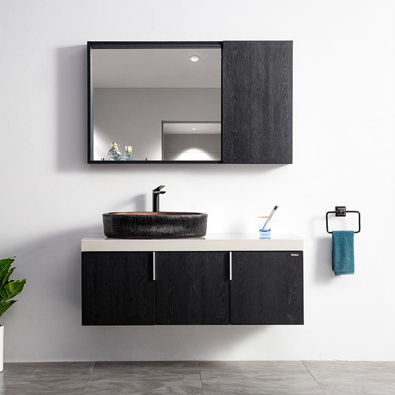 厂家吉品定制免漆浴室柜/洗手盆/卫浴柜/洗漱台DZ-04A