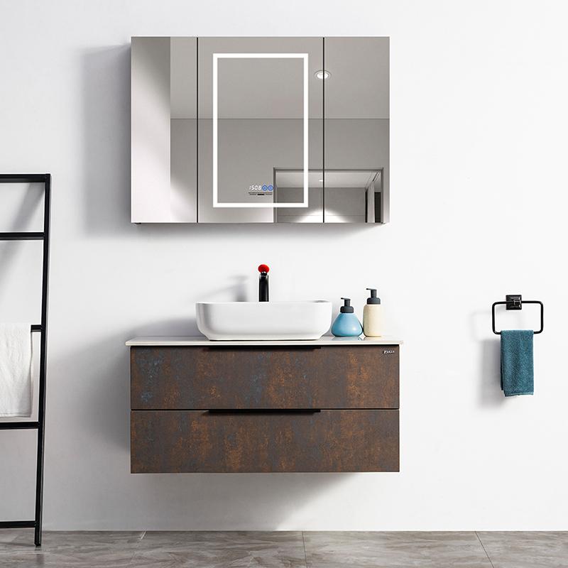 厂家吉品定制免漆浴室柜/洗手盆/卫浴柜/洗漱台DZ-03A