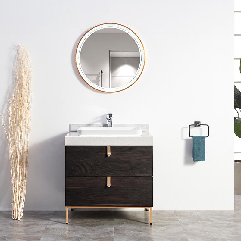 厂家吉品定制免漆浴室柜/洗手盆/卫浴柜/洗漱台DZ-09A