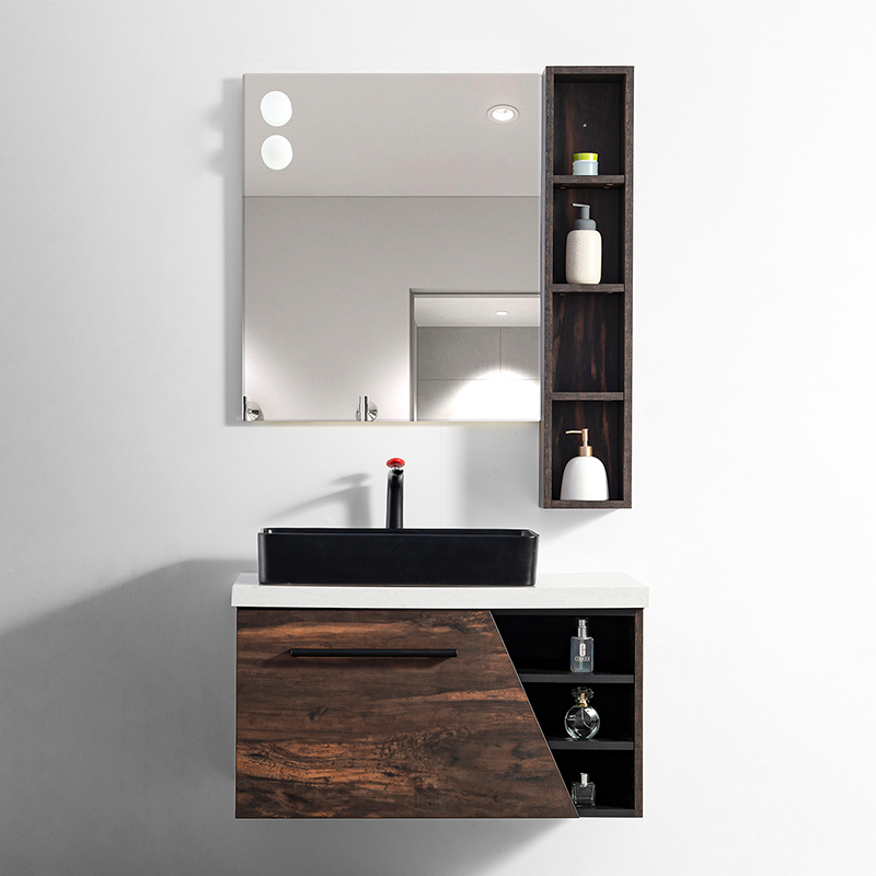 厂家吉品定制免漆浴室柜/洗手盆/卫浴柜/洗漱台DZ-10A