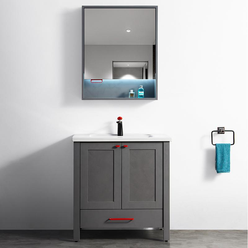 厂家吉品免漆浴室柜/洗手盆/卫浴柜/洗漱台802