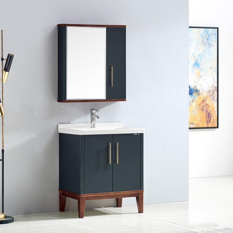 卫尚厂家现代实木浴室柜77落地系列