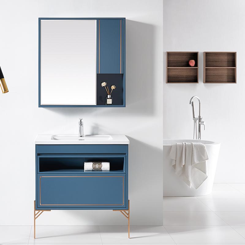 厂家科菲现代PVC浴室柜/洗手盆/面盆/洗漱台落地1943系列