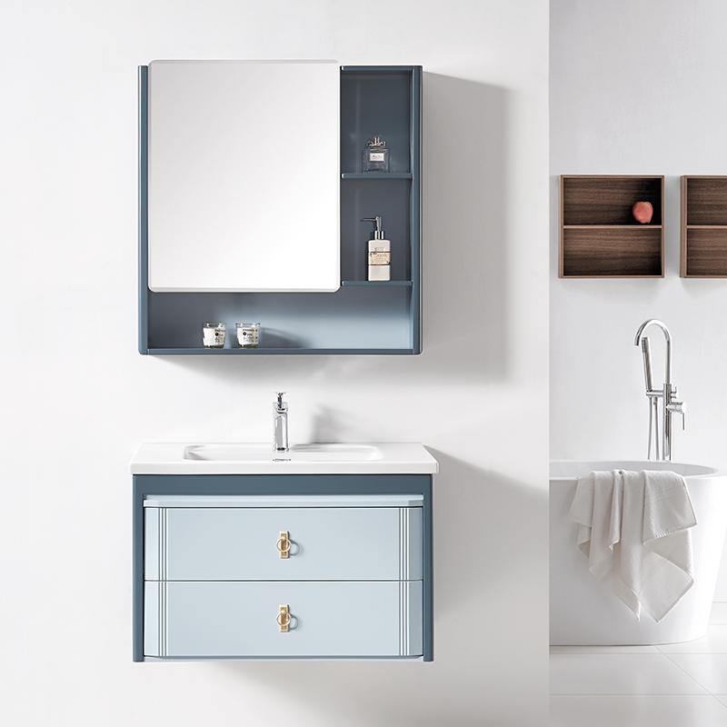 厂家科菲现代PVC浴室柜/洗手盆/面盆/洗漱台吊柜1945系列