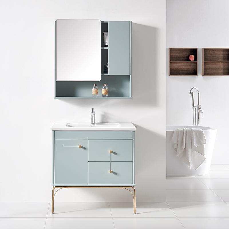 厂家科菲现代PVC浴室柜/洗手盆/面盆/洗漱台1946落地系列