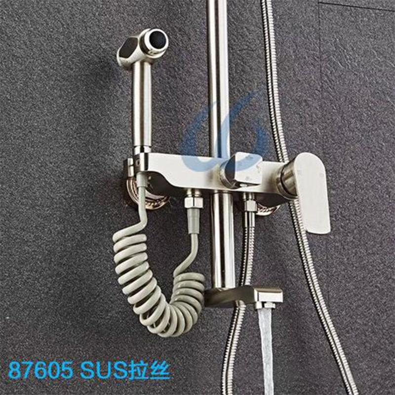 厂家正霸太空铝陶瓷阀芯卫生间淋浴花洒套装87605
