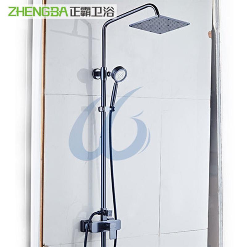 厂家正霸太空铝陶瓷阀芯卫生间淋浴花洒套装017