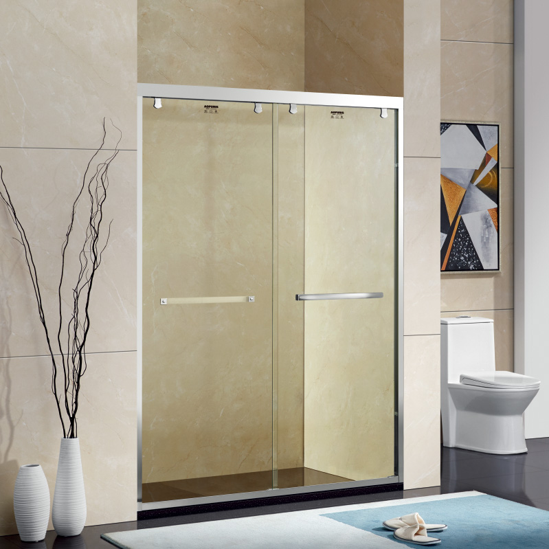 厂家美霖家不锈钢玻璃不含石基防爆膜隔断/淋浴房A0088