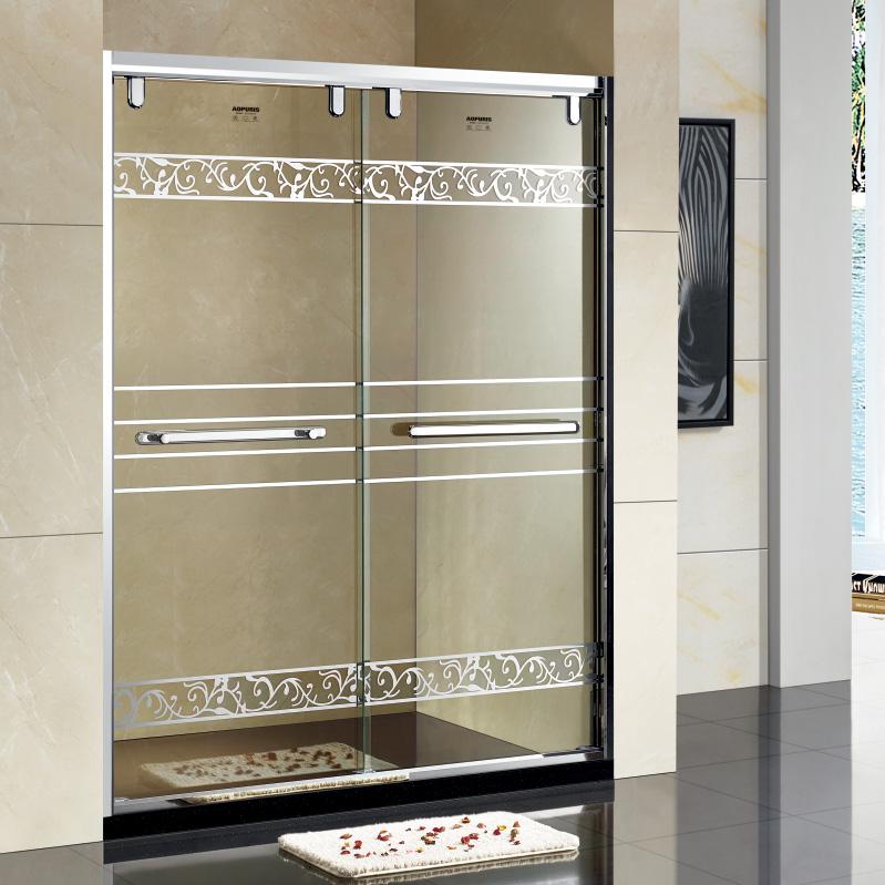 厂家美霖家不锈钢玻璃不含石基防爆膜隔断/淋浴房A126