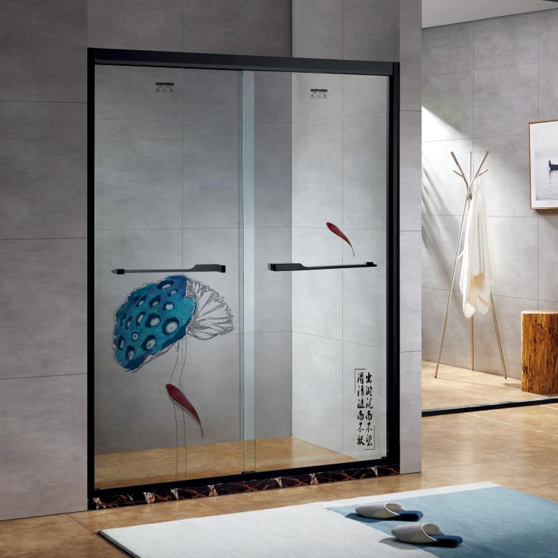 厂家美霖家不锈钢玻璃不含石基防爆膜隔断/淋浴房A142