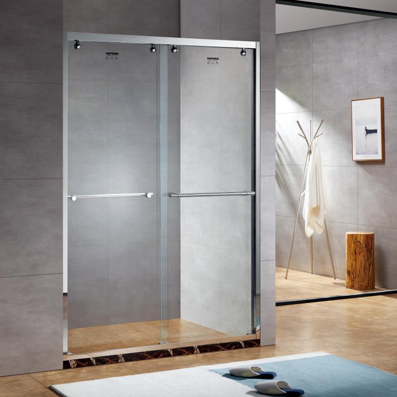 厂家美霖家不锈钢玻璃不含石基防爆膜隔断/淋浴房A143