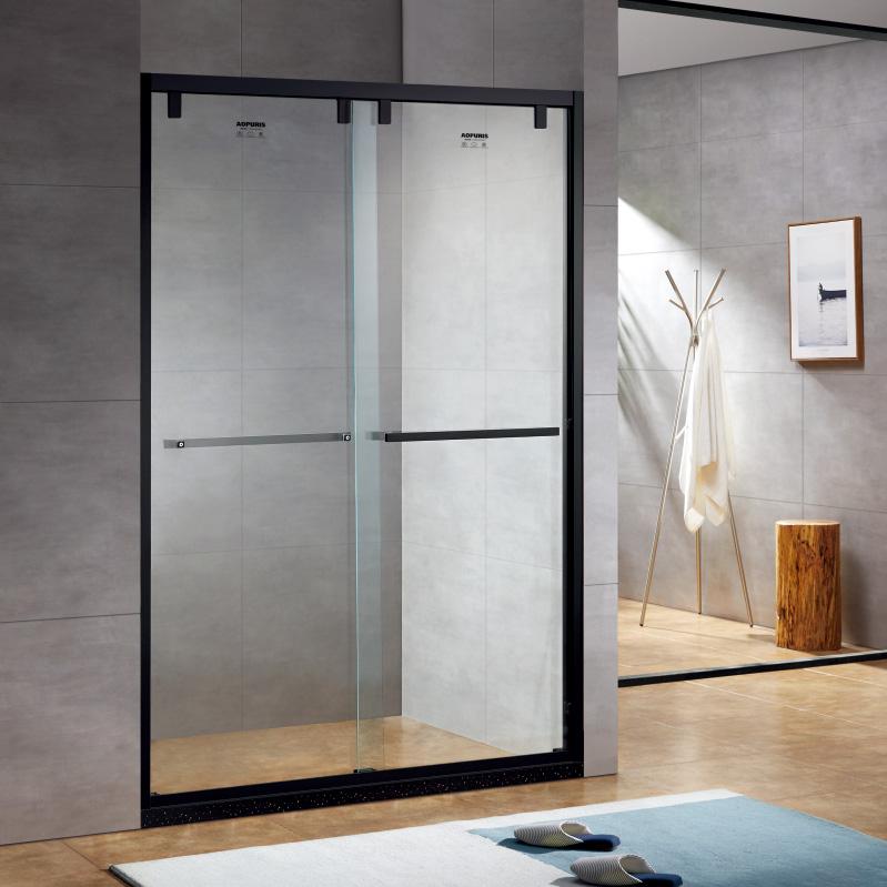 厂家美霖家不锈钢玻璃不含石基防爆膜隔断/淋浴房A149