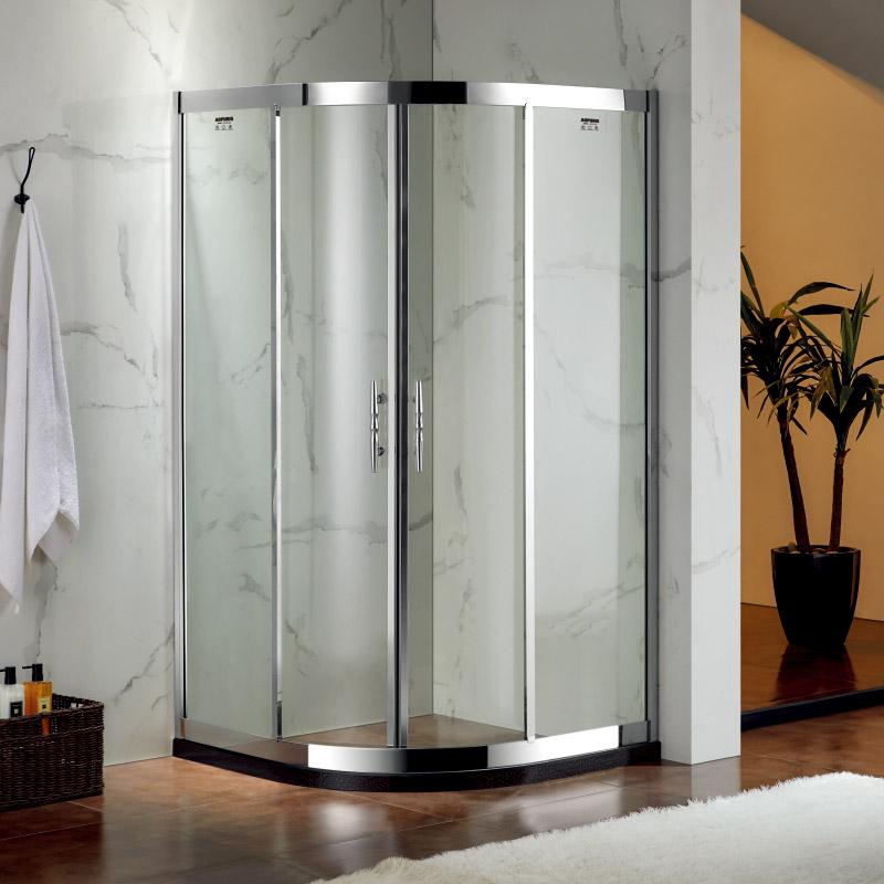厂家美霖家不锈钢带玻璃含石基不含防爆膜扇型/淋浴房B029