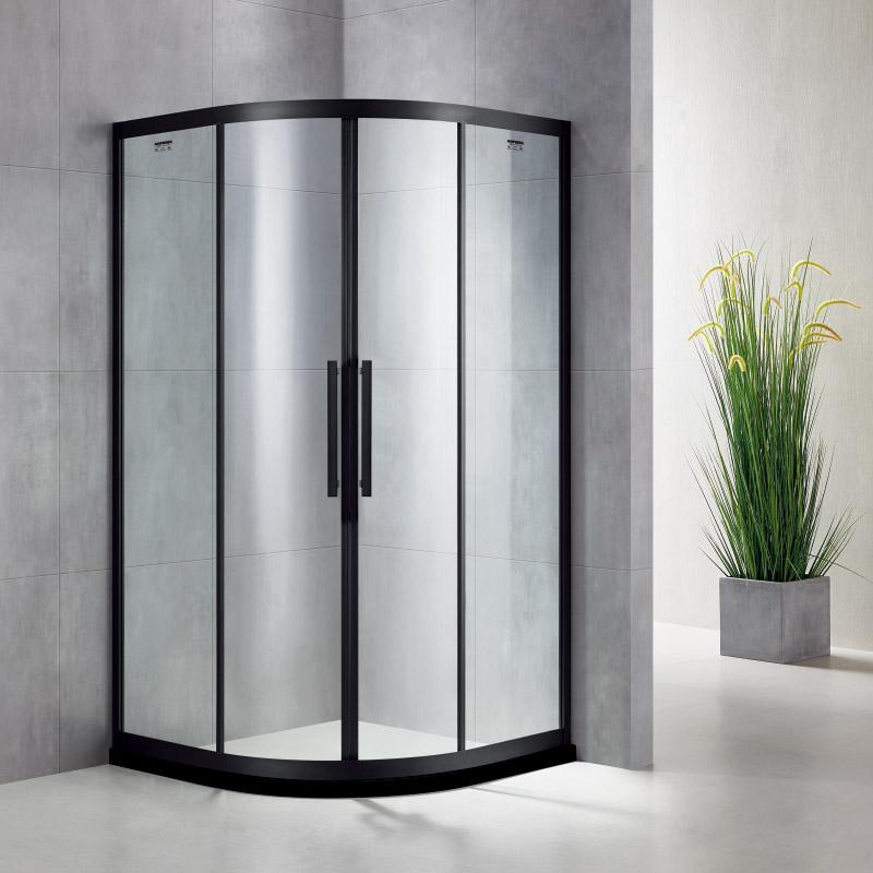 厂家美霖家不锈钢带玻璃含石基不含防爆膜扇型/淋浴房B044