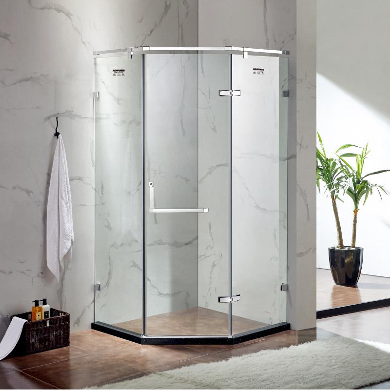 厂家美霖家不锈钢带玻璃含石基不含防爆膜钻石型/淋浴房C034