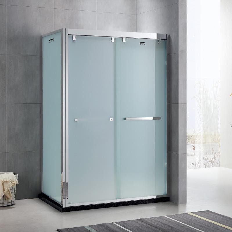厂家美霖家不锈钢带玻璃不含石基不含防爆膜方型/淋浴房D024