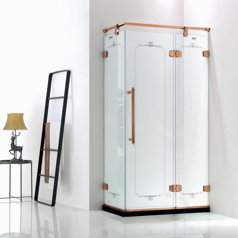 厂家美霖家不锈钢带玻璃不含石基不含防爆膜方型/淋浴房D026