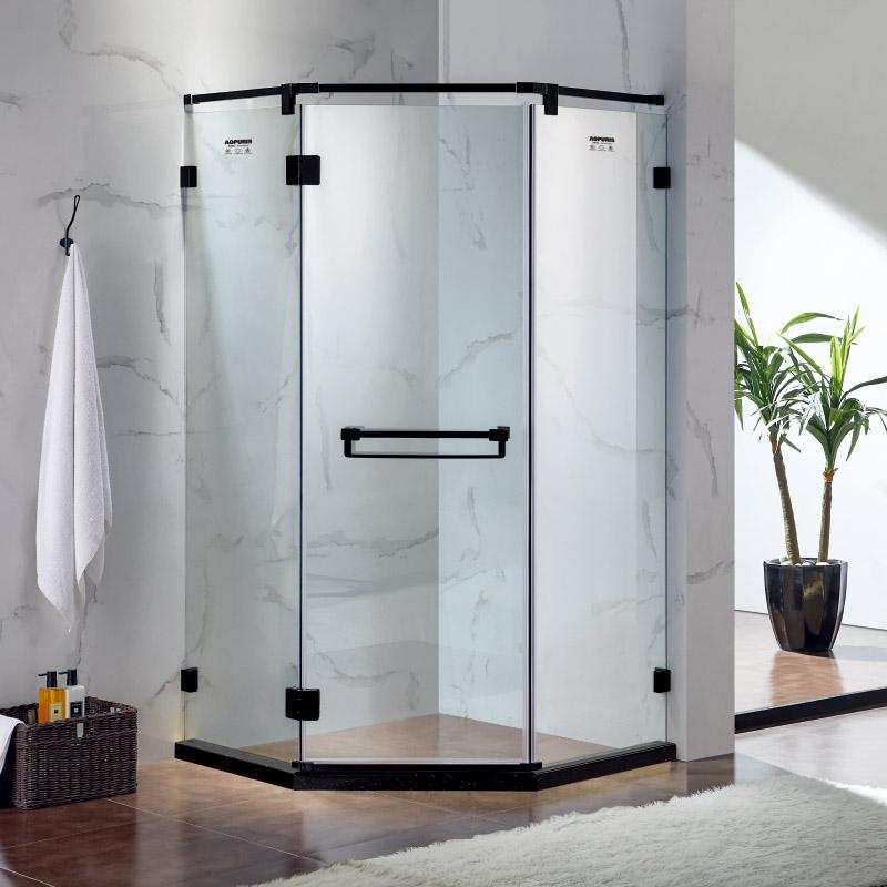 厂家美霖家不锈钢带玻璃含石基不含防爆膜钻石型/淋浴房C027