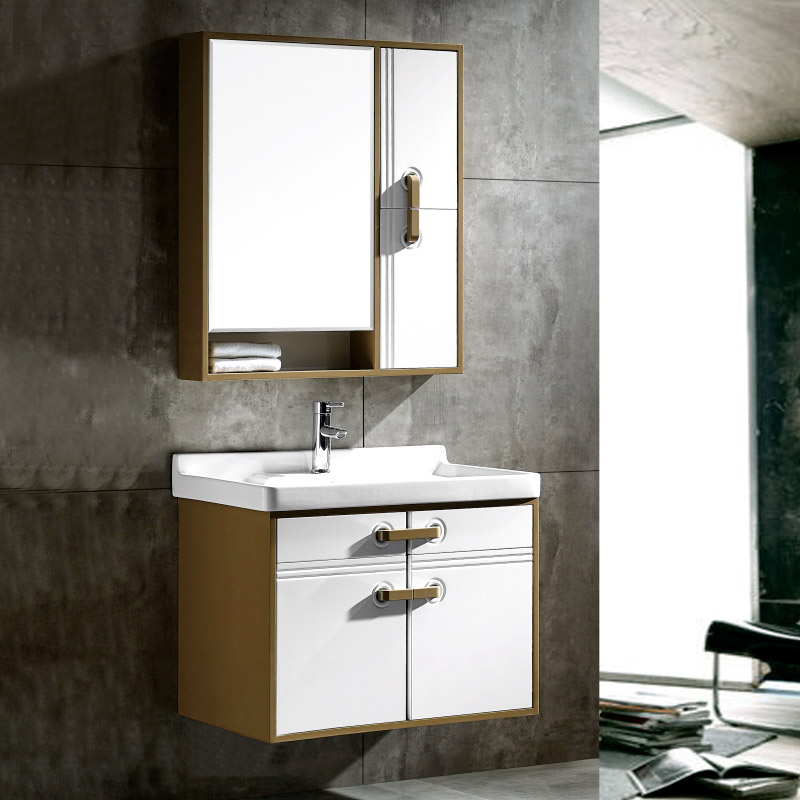 厂家森工坊现代PVC浴室柜/洗手盆/洗漱台/面盆233-80