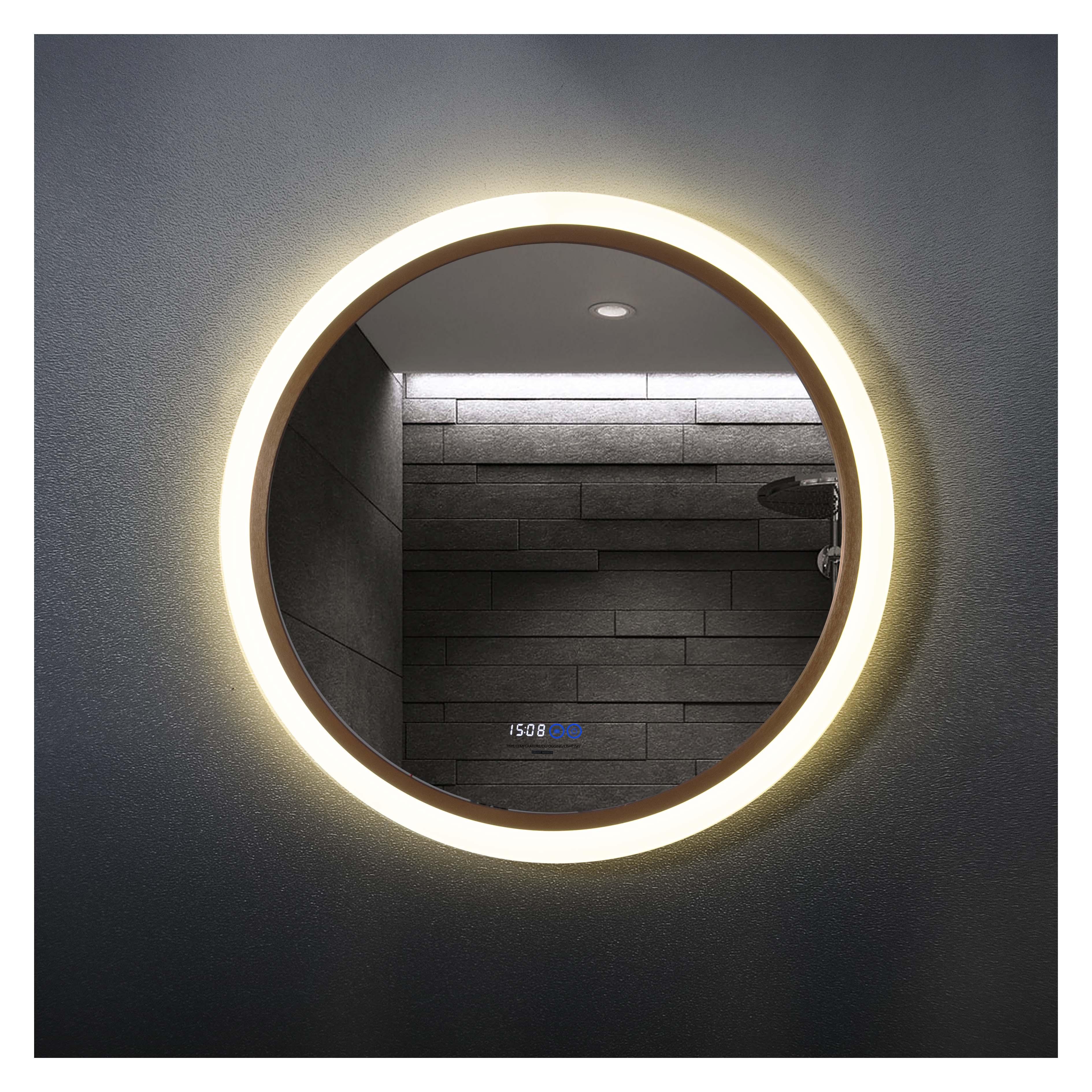 厂家吉平铝合金平亚亚克力直径800圆四功能智能镜