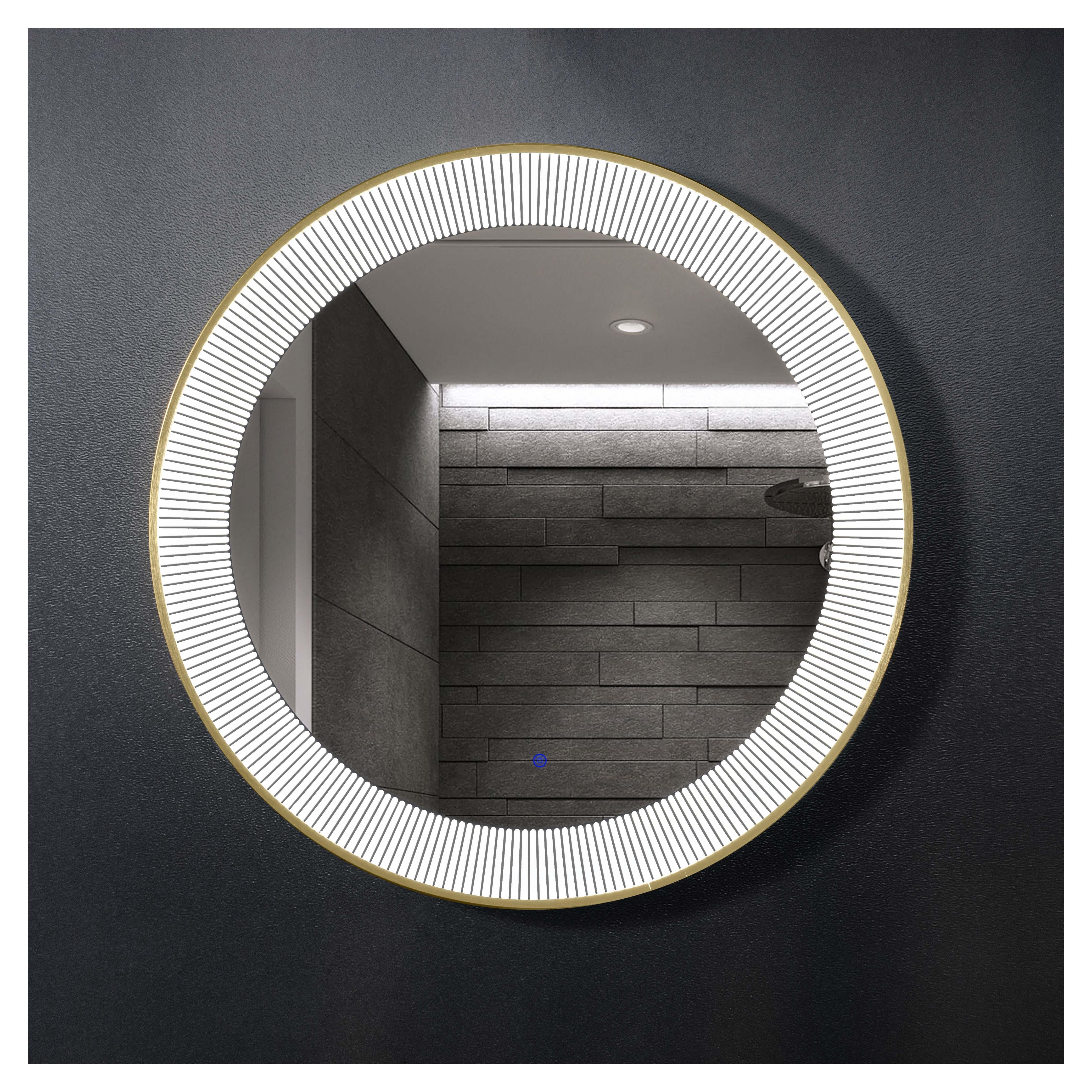 厂家吉品铝合金圆框直径800太阳镜单开关智能镜