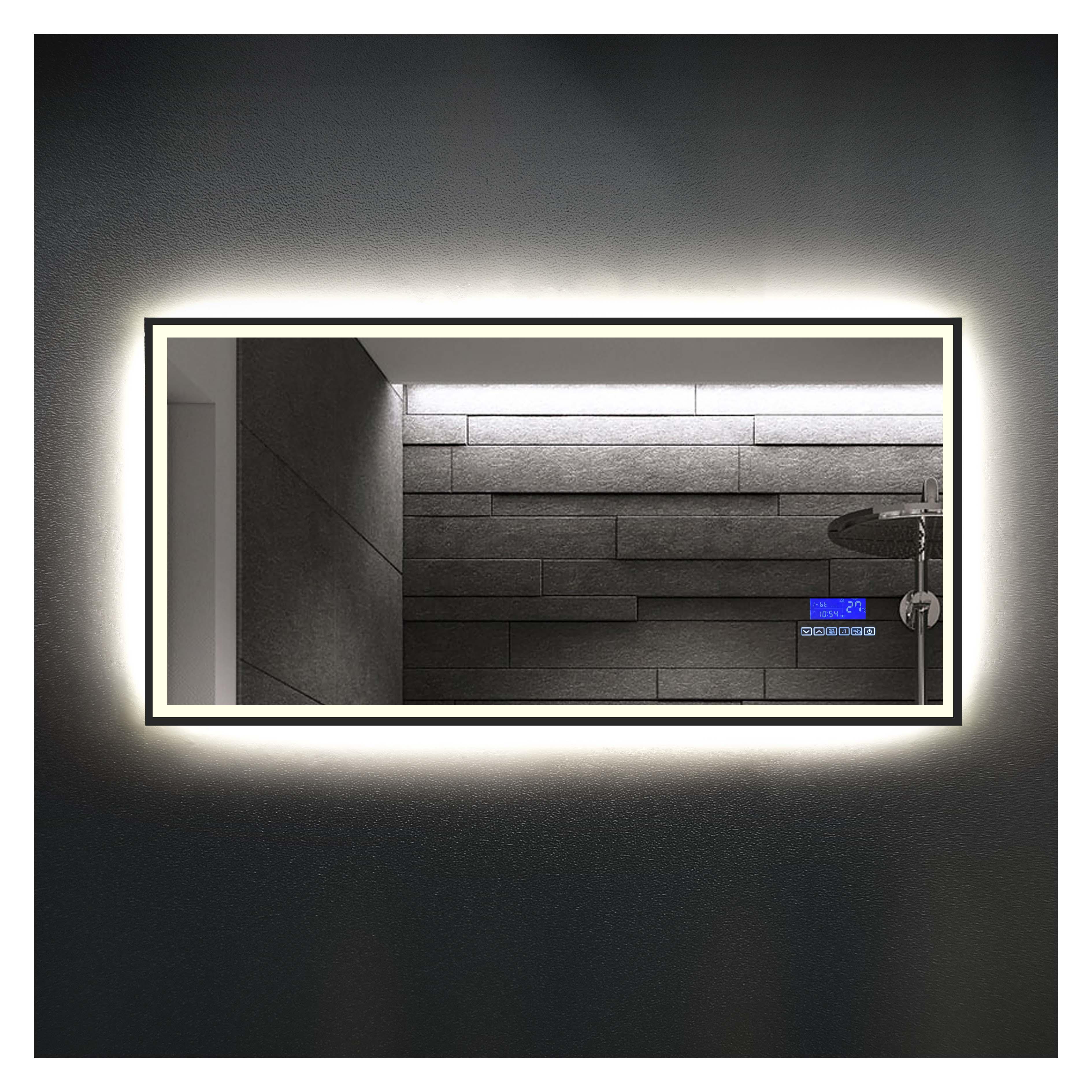 厂家吉品小黑边条1200*600全功能液晶显示屏智能镜