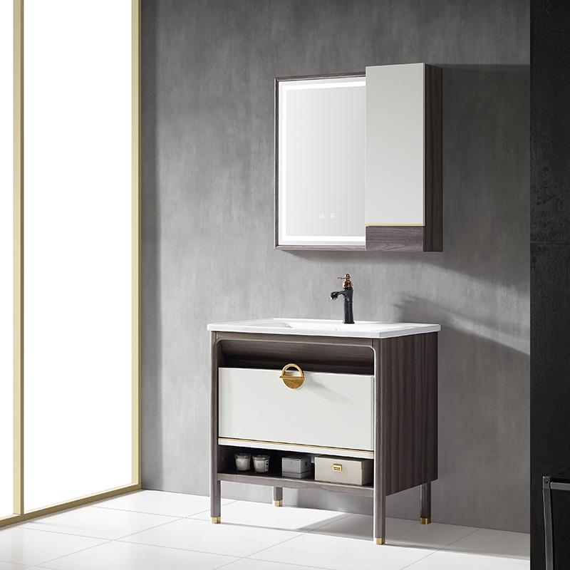厂家红橡免漆实木浴室柜/洗手面盆/卫浴柜/卫生间洗漱台013系列