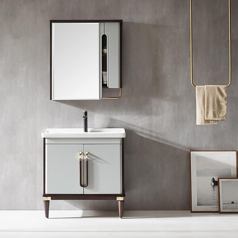 现代实木浴室柜/洗手面盆/卫浴柜/卫生间洗漱台009系列
