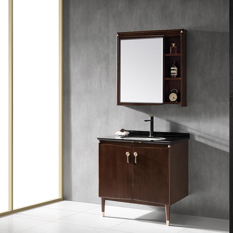 厂家新中式实木浴室柜/洗手面盆/卫浴柜/卫生间洗漱台012系列